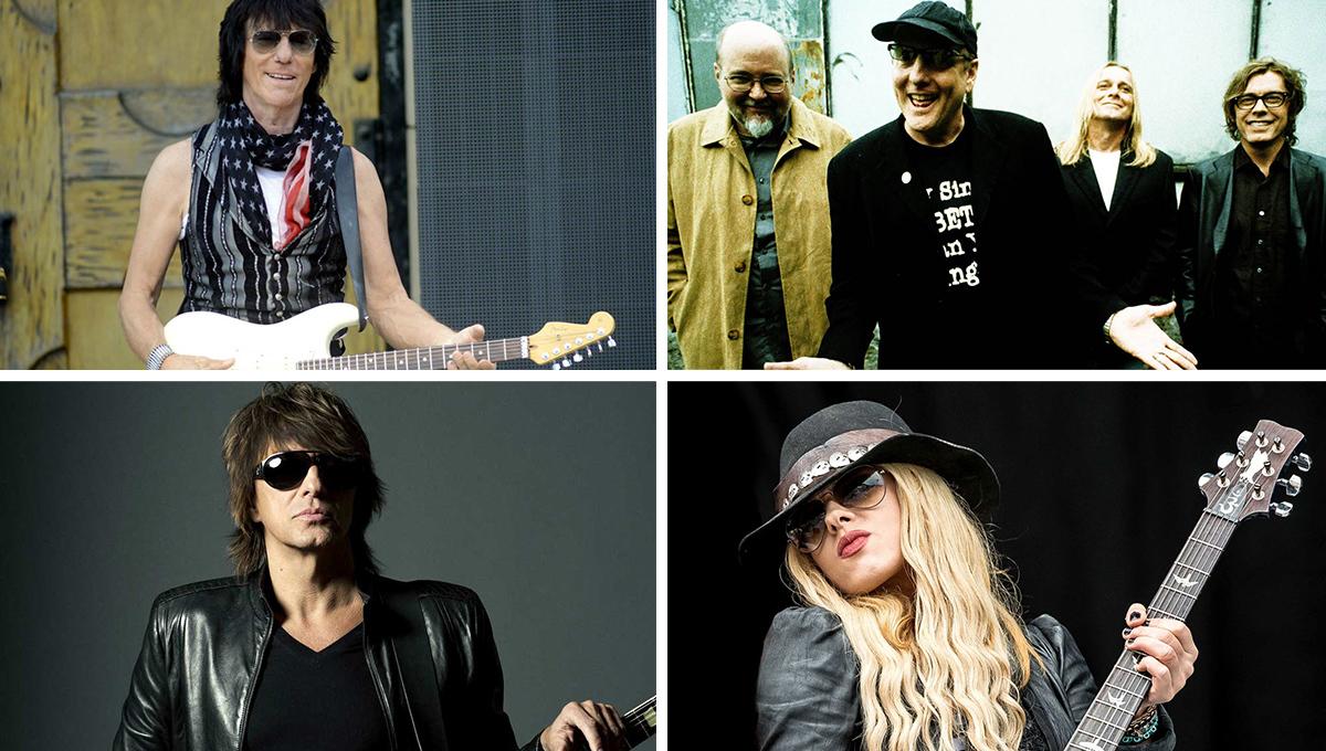 左上:Jeff Beck、 左下:Richie Sambora、 右上:Cheap Trick、 右下:Orianthi