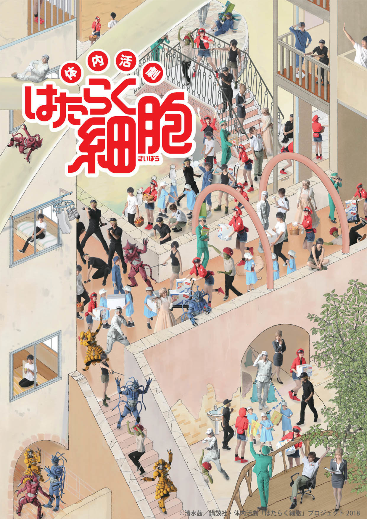 (C)清水茜/講談社・体内活劇「はたらく細胞」プロジェクト 2018