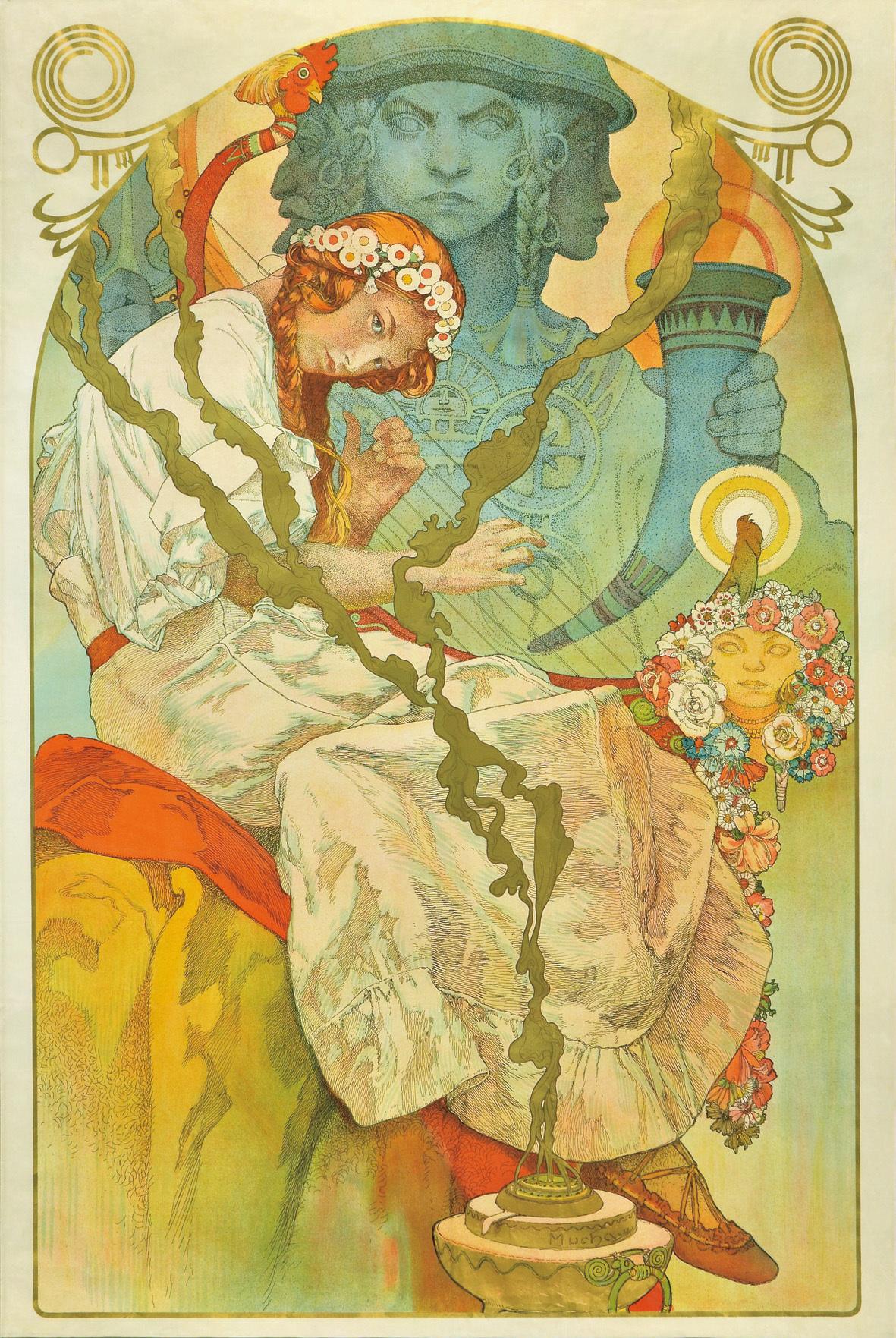 ポスター「《スラヴ叙事詩》展」(部分)1928年/リトグラフ