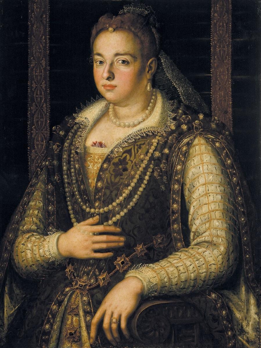 アレッサンドロ・アッローリ派《ビアンカ・カペッロの肖像》 1578年以降 ウフィツィ美術館、 パラティーナ美術館 © Gabinetto Fotografico delle Gallerie degli Uffizi