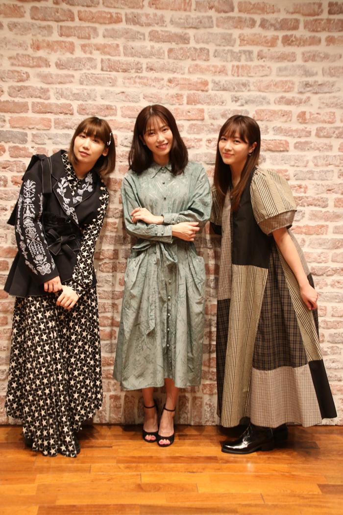 根本宗子、横山由依(AKB48)、中山莉子(私立恵比寿中学)