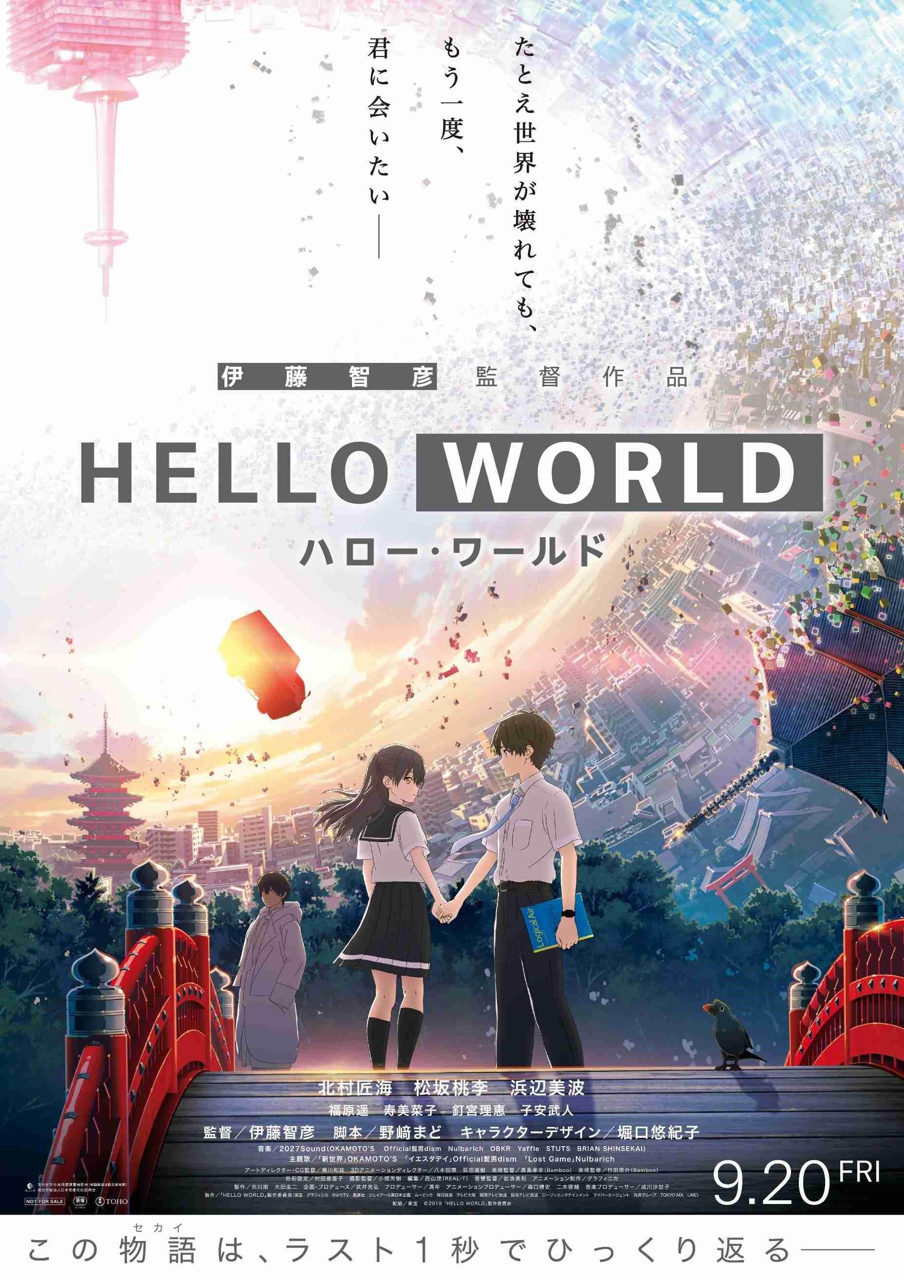 サイン入りポスター(5名) (C)2019「HELLO WORLD」製作委員会