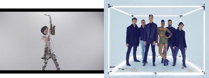 (左から)武田真治、フィッツ・アンド・ザ・タントラムズ
