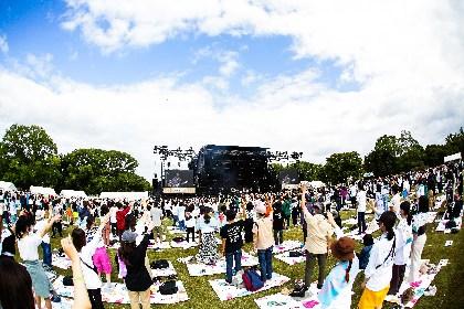『OSAKA GENKi PARK』2日目オフィシャルライブレポート【もみじ川広場 RIGHT STAGE】ーー「希望の光が溢れる未来へ」フジファブリック、キュウソ、マカロニえんぴつらが大阪から元気を