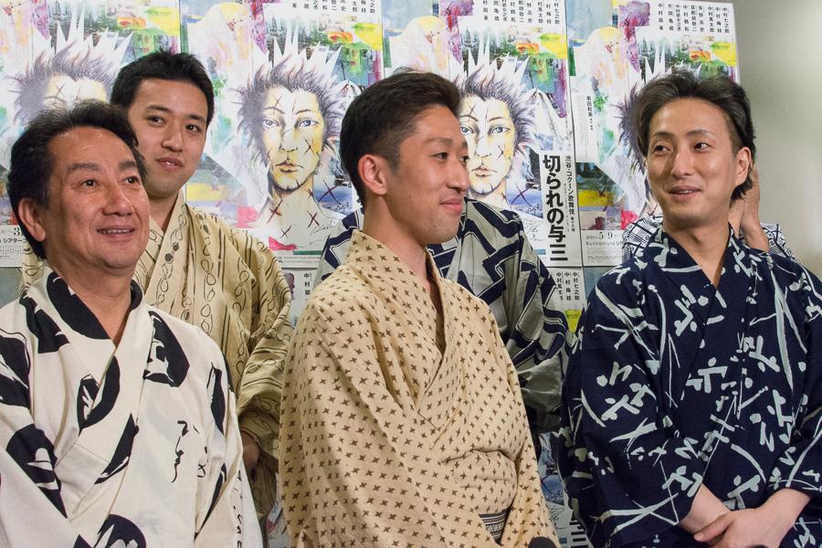 (左から)扇雀、萬太郎、梅枝、七之助