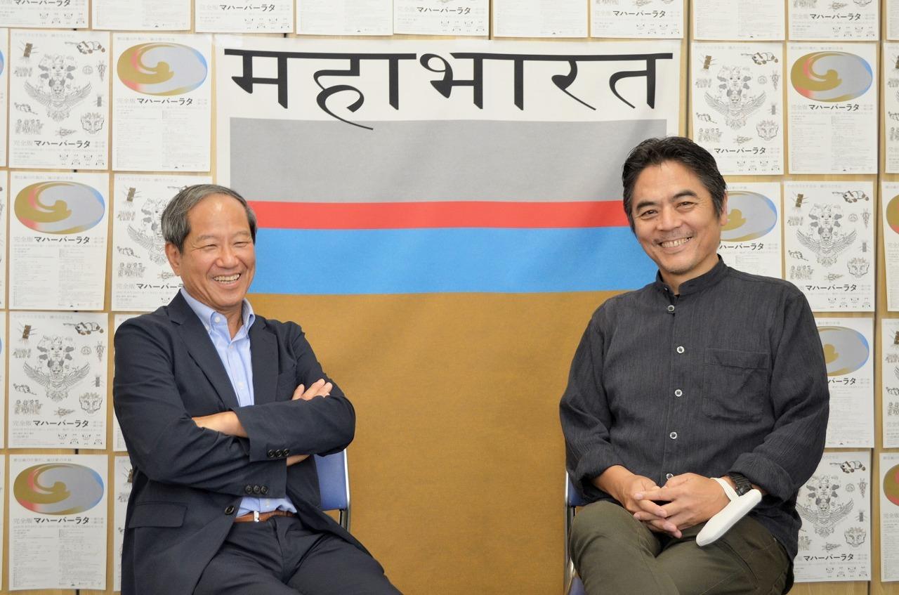 (左から)蓑田秀策、小池博史
