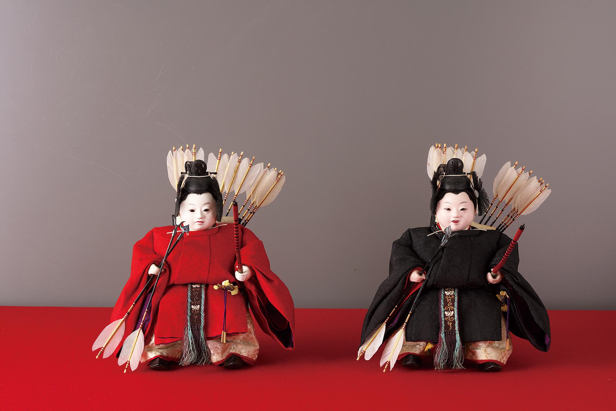 「岩﨑家雛人形」のうち随身 五世大木平藏製 昭和初期 静嘉堂文庫美術館蔵 【全期間展示】