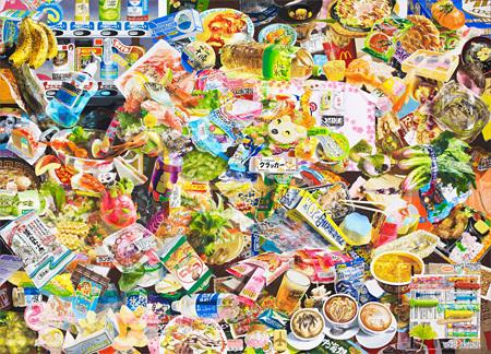 服部桜子『metro 0』2013、2015 116.7×160.6cm 鳥の子紙、膠、岩絵具、水干、胡粉、パール粉、色鉛筆、パネル