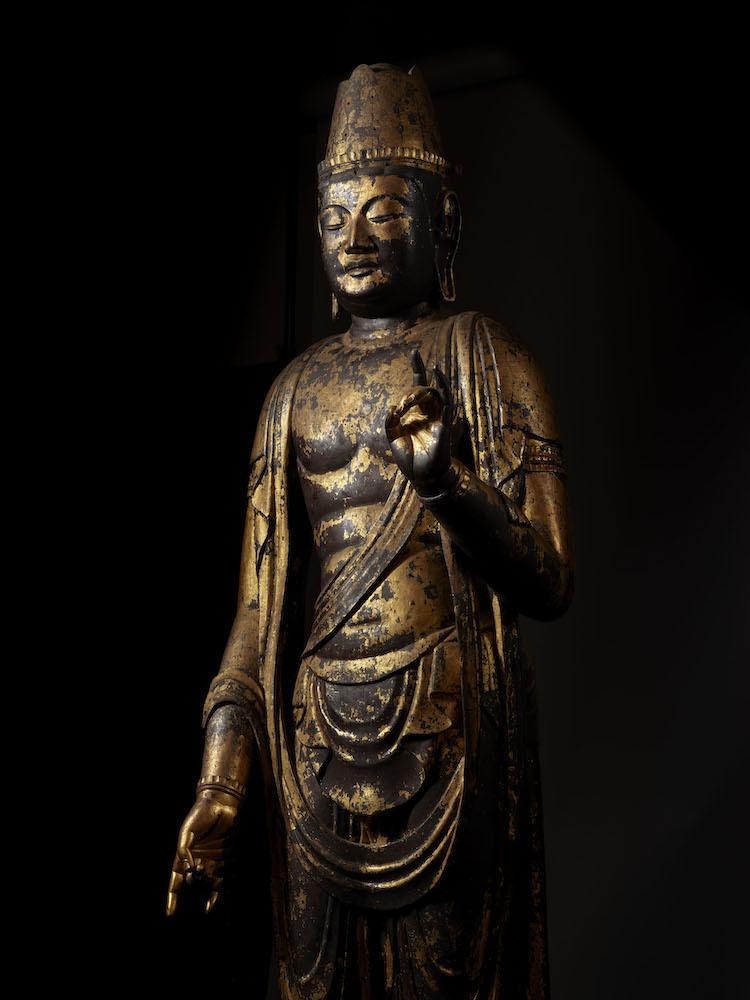 日光菩薩立像(部分) 平安時代・10~11世紀 奈良・正暦寺蔵