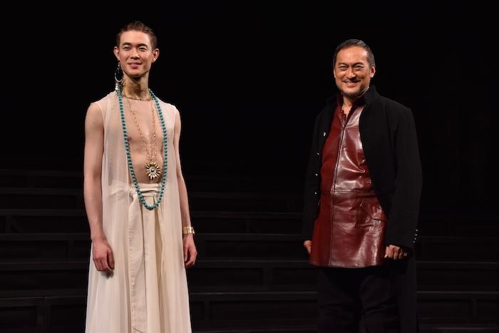 渡辺謙、宮沢氷魚(右から)