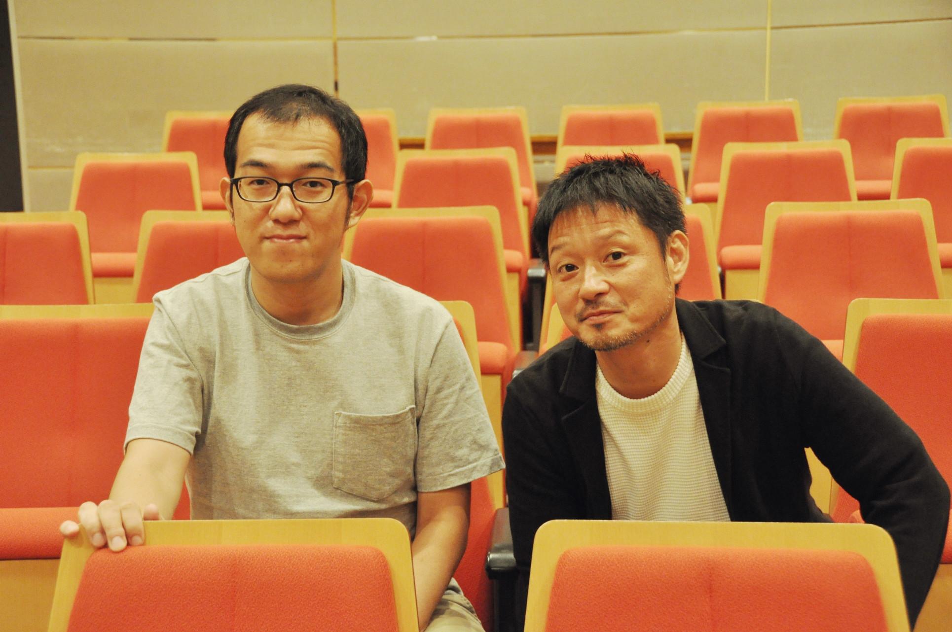 (左から)上田誠、福田転球 [撮影]吉永美和子(このページすべて)