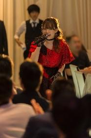 篠崎愛、赤のドレスでメジャーデビュー曲を初披露 「すごく緊張する。みなさん温かい目で見守りながら聴いて下さい」