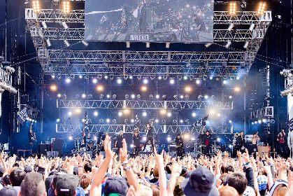 TRIPLE AXE『RUSH BALL 2019』クイックレポート ーーcoldrain、HEY-SMITH、SiMによる夢のスーパーバンドがラシュボ初登場