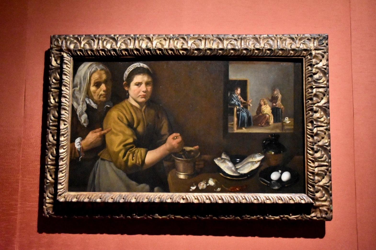ディエゴ・ベラスケス《マルタとマリアの家のキリスト》1618年頃