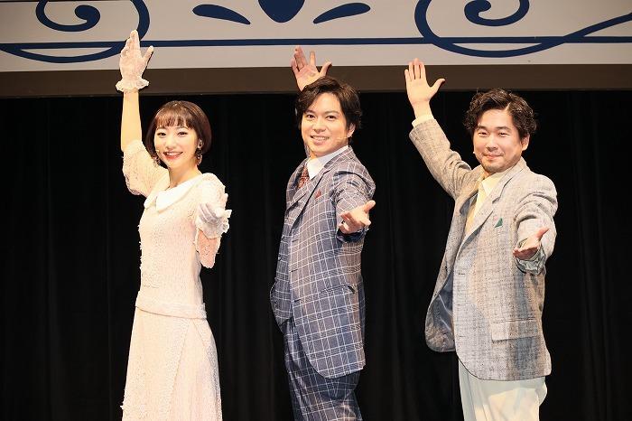 『モダンボーイズ』会見より (左から)武田玲奈、加藤シゲアキ、山崎樹範  撮影=加藤幸広