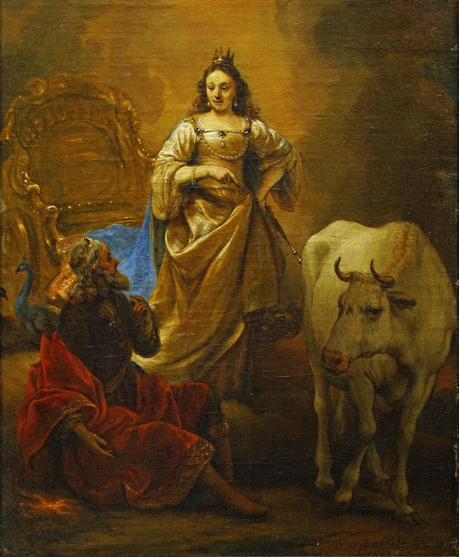 ヘルブラント・ファン・デン・エークハウト《ユノ、 ユピテル、 そして牛に変身させられたイオ》個人蔵
