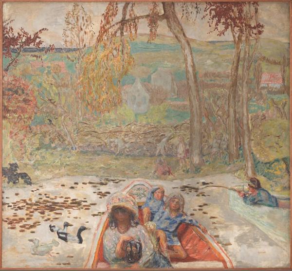 ピエール・ボナール《ボート遊び》1907年 油彩、カンヴァス 278×301cm オルセー美術館 (C)Musée d'Orsay, Dist. RMN-Grand Palais / Patrice Schmidt / distributed by AMF
