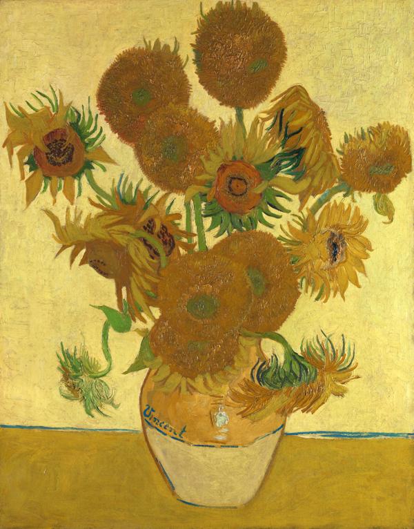 フィンセント・ファン・ゴッホ 《ひまわり》 1888年、カンヴァスに油彩、92.1×73cm  (C)The National Gallery, London. Bought, Courtauld Fund, 1924