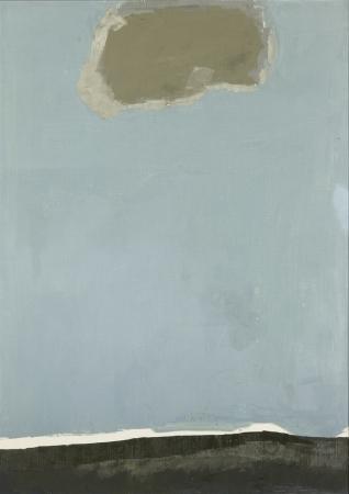 森兵五 《風景》 1987年 油彩、キャンバス 91.0×65.7cm