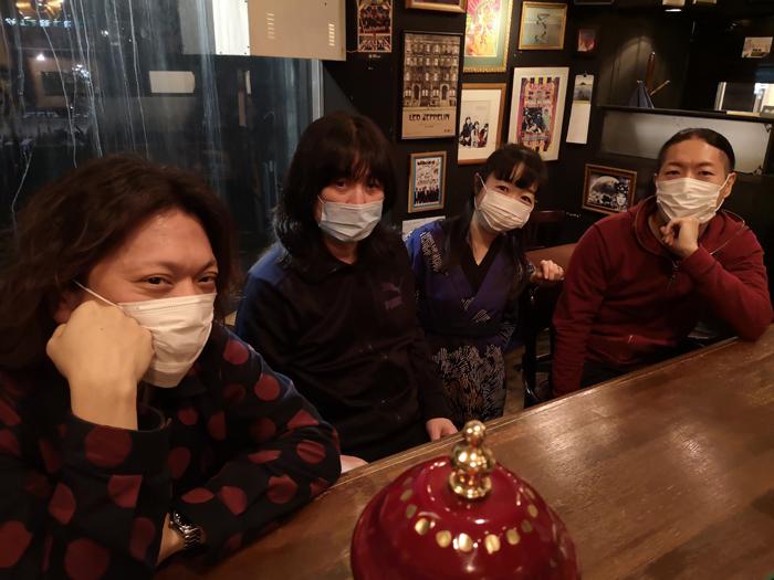 (左から)宮嶋健一 後藤マスヒロ 稲益宏美 栗谷秀貴