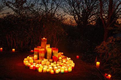 数千個のキャンドルが灯る『クリスマス&キャンドルナイト』 アイリッシュハープ、ハンドベルなどの演奏も
