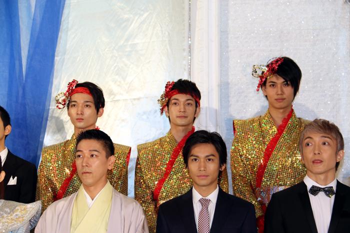 マモリ鯛も頑張ります! 左から竹内寿、香山佳祐、中村太郎