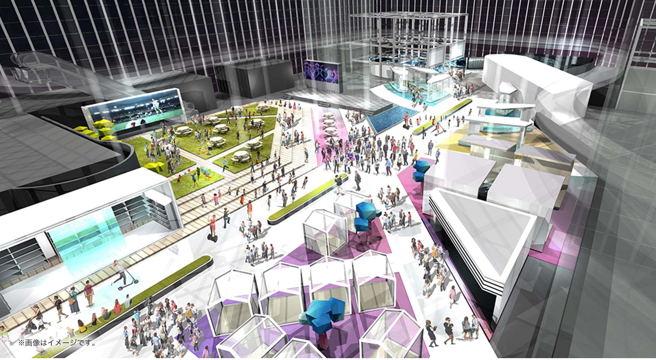様々な業種の企業が未来の生活を描く「FUTURE EXPO」
