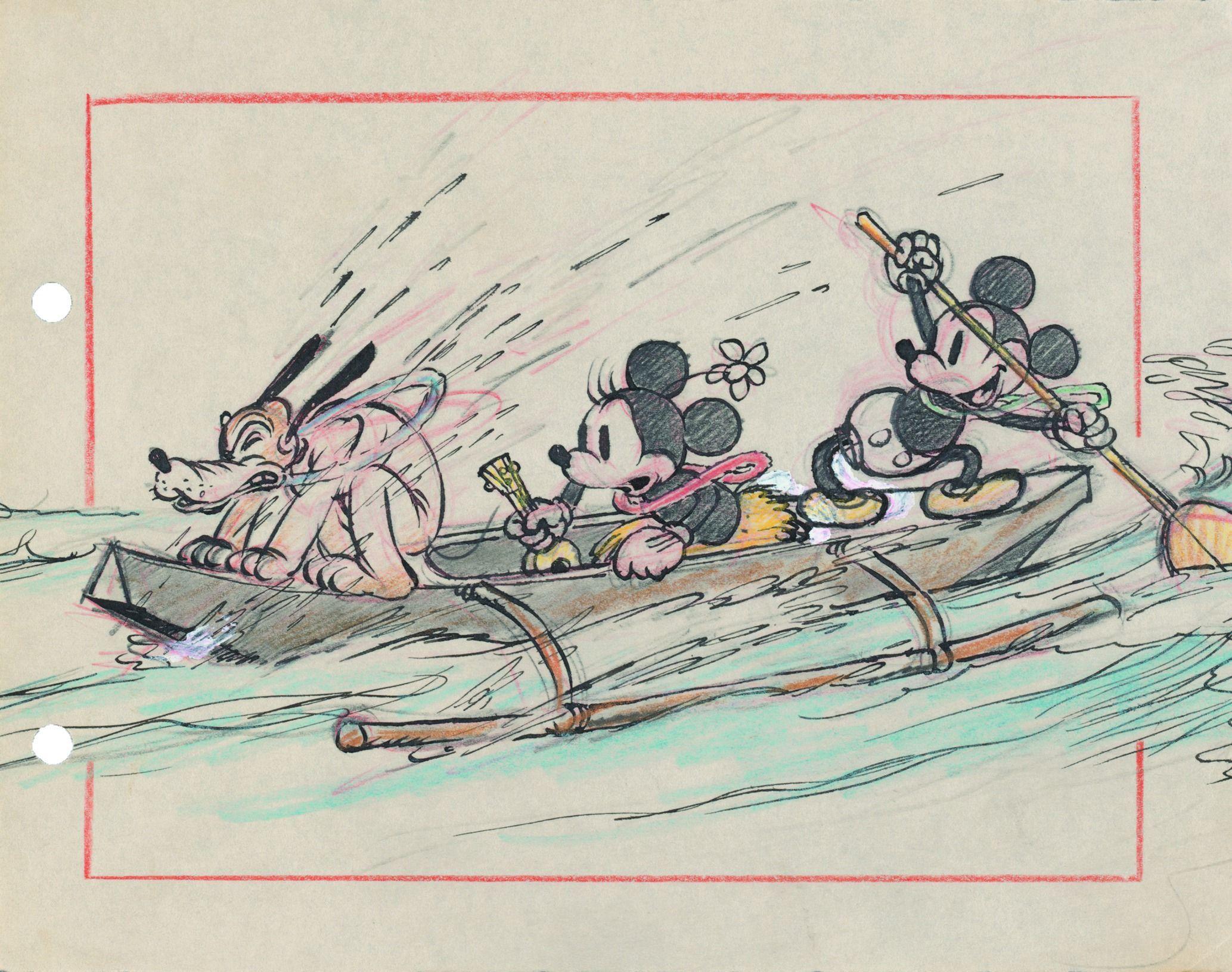 ミッキーのハワイ旅行より 1937年 (C)Disney Enterprises, Inc.