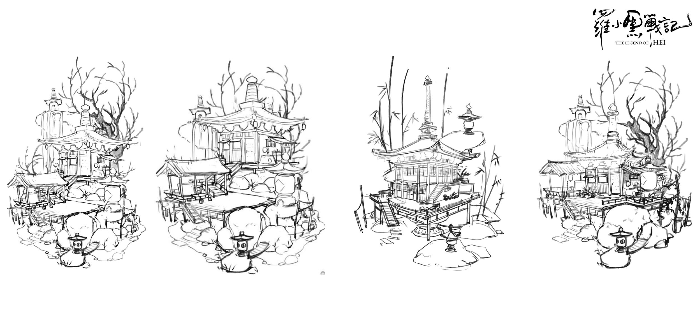 設定画〈ムゲン小屋2〉 (C) Beijing HMCH Anime Co.,Ltd