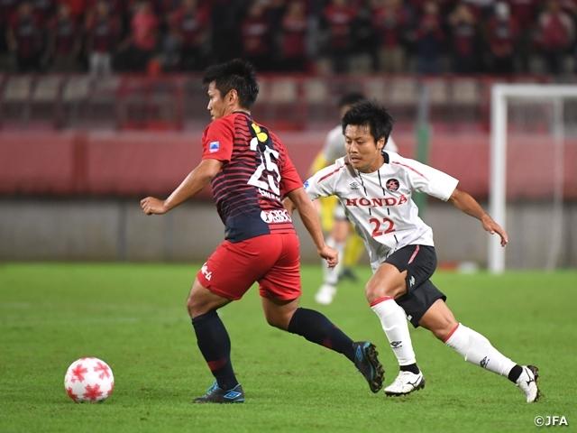 準々決勝でJFLのHonda FCに1-0で辛勝した鹿島アントラーズ (c)JFA