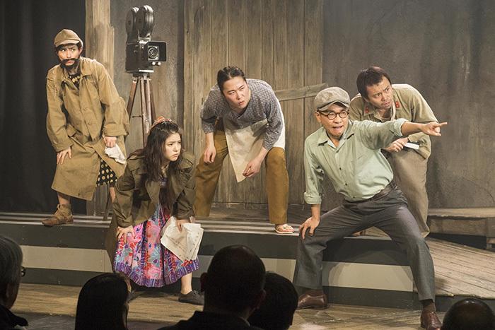 (左から)町田マリー、川島海荷、大鶴佐助、八嶋智人、富岡晃一郎 (撮影:引地信彦)