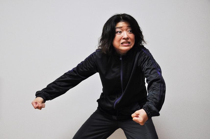 稽古中の宮川サキ。 [撮影]吉永美和子