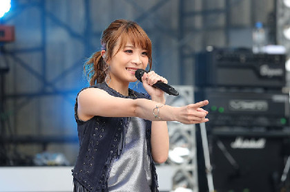 May'n、雨女返上の初野外ライブ「めっちゃ幸せ!」