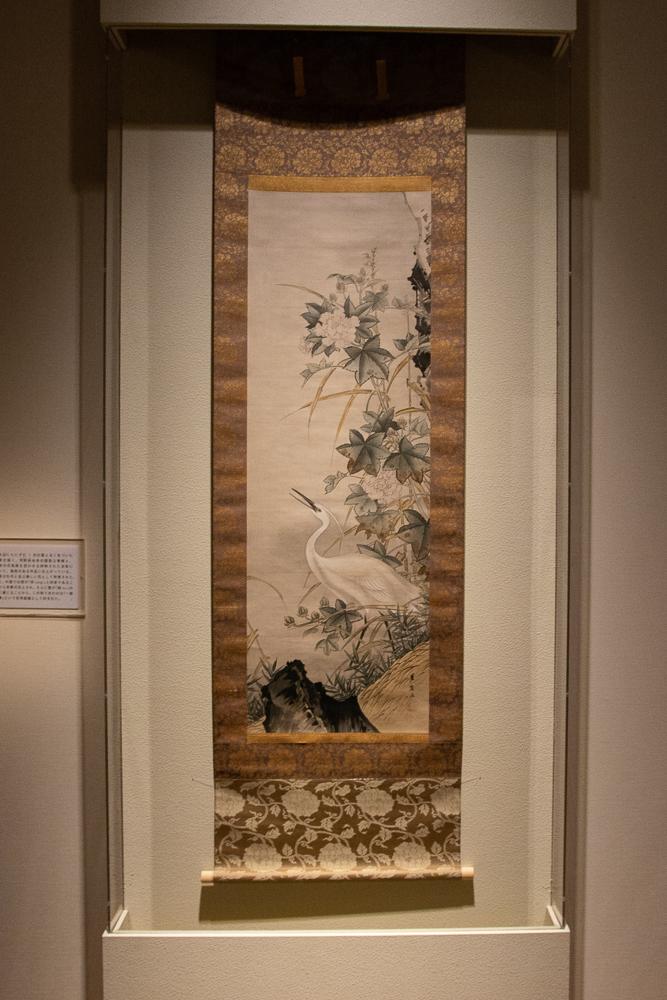 狩野芳崖《芙蓉白鷺》1872(明治 5)年頃  山種美術館
