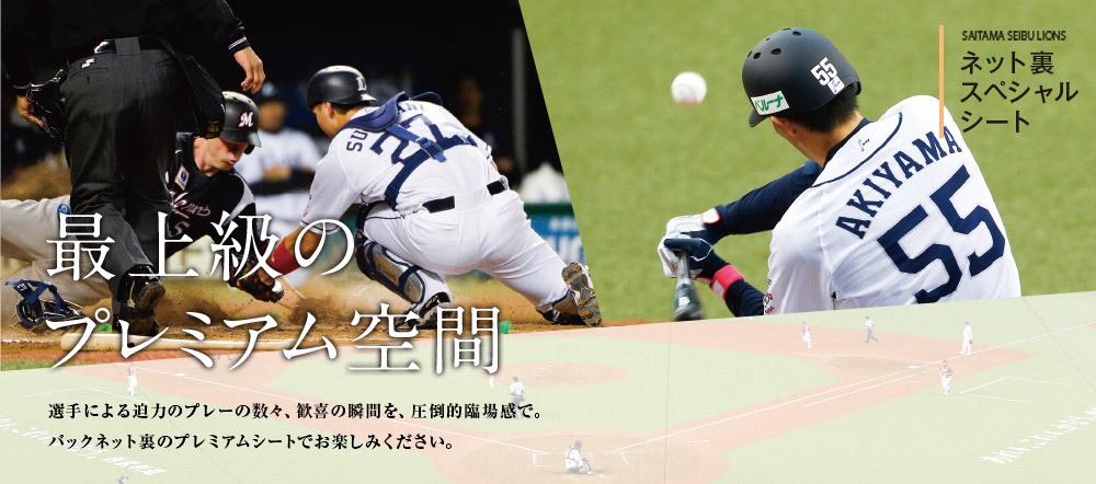 ネット裏で極上の野球観戦ができる「ネット裏スペシャルシート」