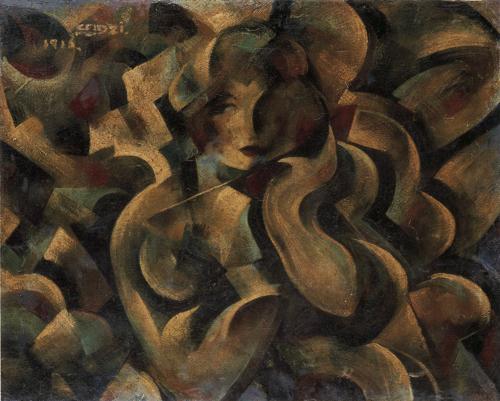 《パラソルさせる女》 1916年 一般財団法人 陽山美術館