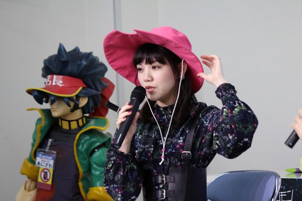 山田きなこさんからプレゼントされた手作りの帽子を被っていた田上