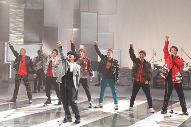 ChageとGENERATIONS from EXILE TRIBE。 (c)フジテレビ