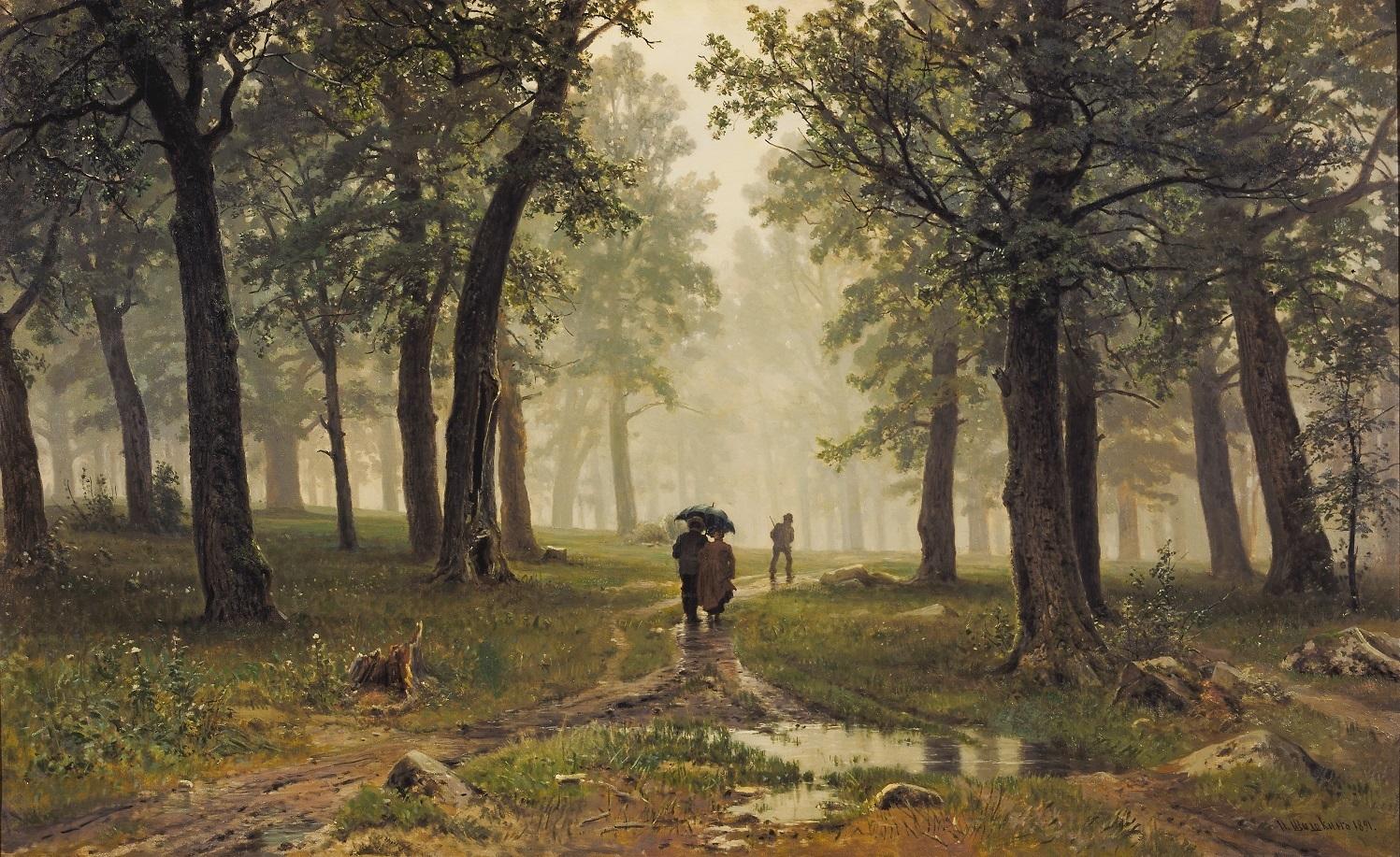 イワン・シーシキン 《雨の樫林》 1891 年 油彩・キャンヴァス (C) The State Tretyakov Gallery