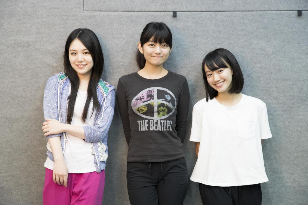 (左から)田上真里奈、森田涼香、重石邑菜