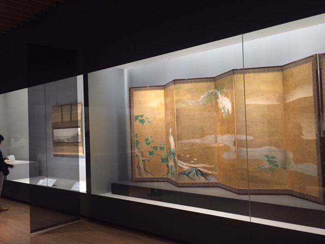 桐鳳凰図屏風 狩野探幽 江戸時代 17世紀 サントリー美術館