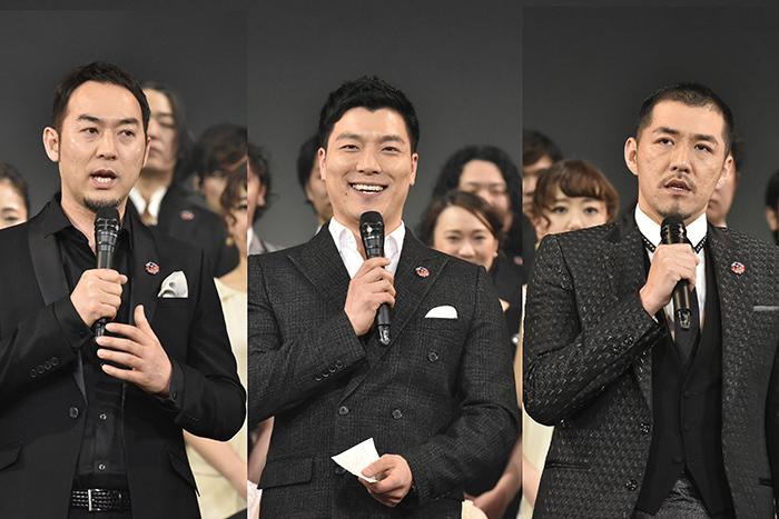 (左から)福井晶一、ヤン・ジュンモ、吉原光夫(撮影:原地達浩)