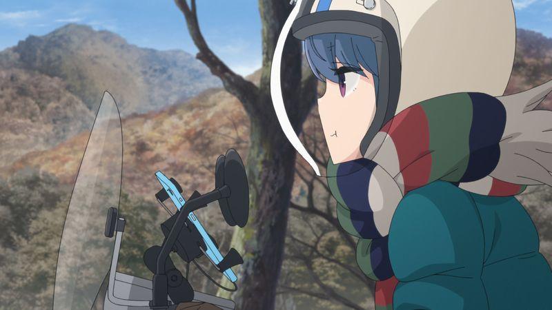 Blu-ray&DVD第3巻収録『旅するしまりん』場面カット (c)あfろ・芳文社/野外活動委員会