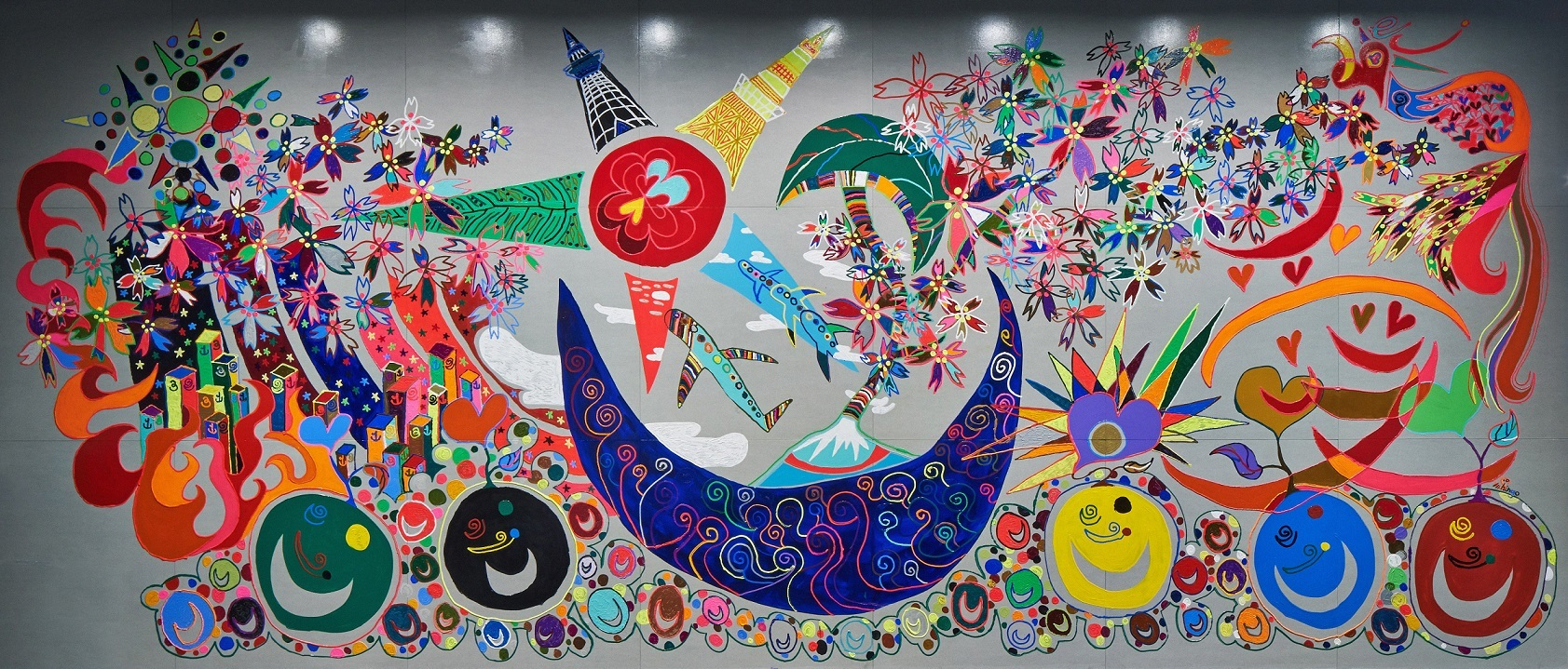 Shingo Katori's artwork image  The mural of Nippon Foundation Paralympic Support Center Office