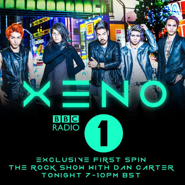 Crossfaith「Xeno」のBBC RADIO 1でのオンエア告知画像。