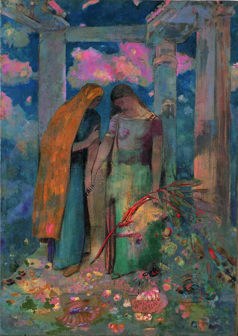 《神秘的な対話》1896年頃 油彩/カンヴァス 岐阜県美術館蔵
