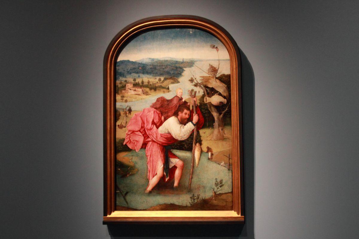 ヒエロニムス・ボス《聖クリストフォロス》1500年頃、油彩、板