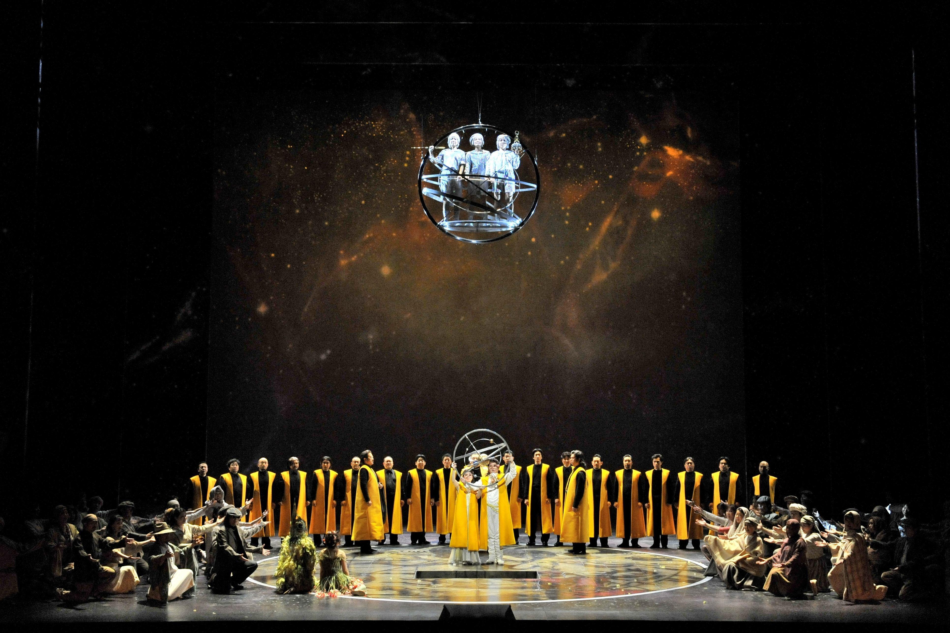 新国立劇場「魔笛」の幻想的なクライマックス(2013年公演より)