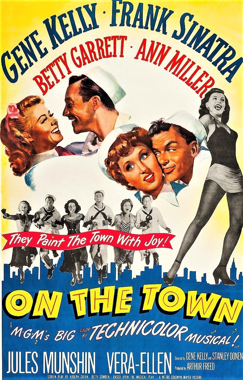 「踊る大紐育」(1949年)アメリカ公開時のポスター