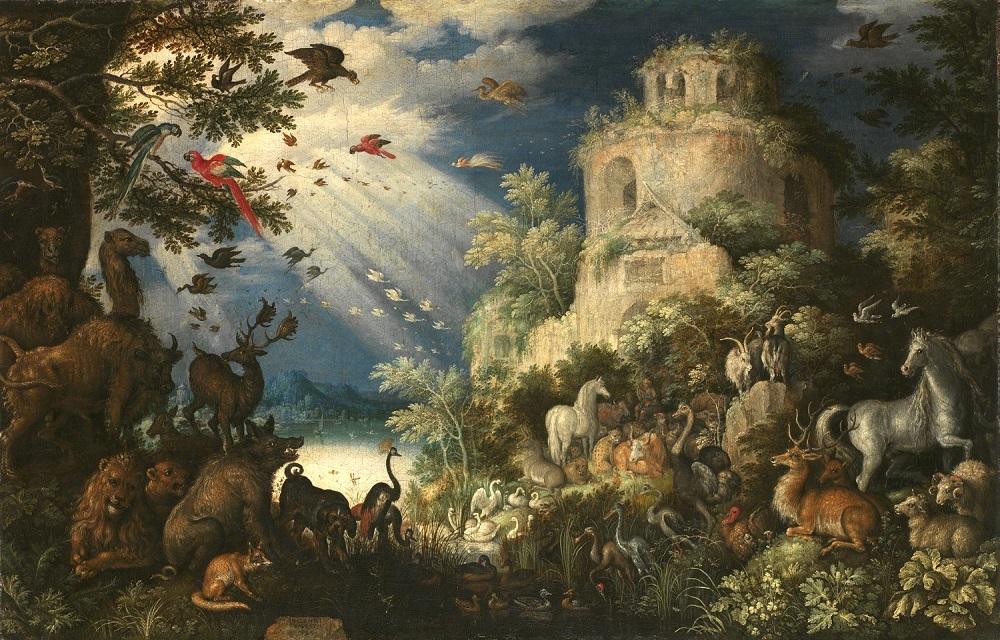 ルーラント・サーフェリー 《動物に音楽を奏でるオルフェウス》 1625年、油彩・キャンヴァス、プラハ国立美術館、チェコ共和国 The National Gallery in Prague